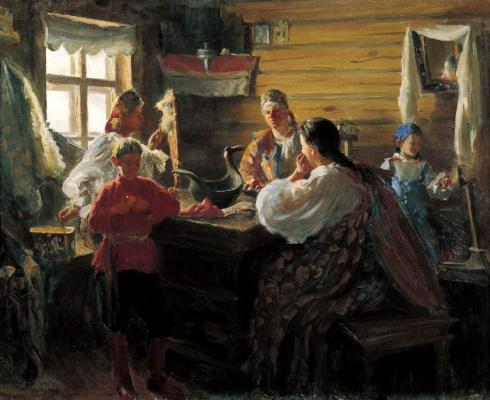Иван Семенович Куликов. Зимним вечером