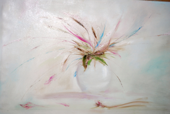 Ирина Муляр. Листья в вазе (интерьерная живопись)