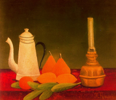 Henri Rousseau. Still life with pears