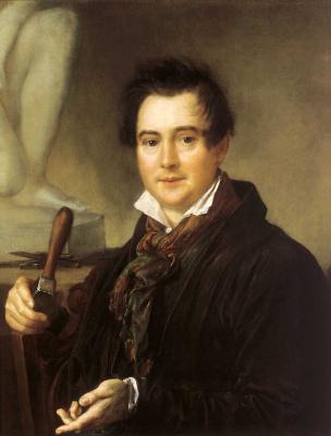 Vasily Andreevich Tropinin. Portrait of the sculptor I. P. Vitali