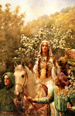 Джон Кольер. Майский праздник королевы Гвиневер 1900