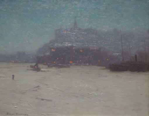 Birge Harrison. Quebec from the Harbor