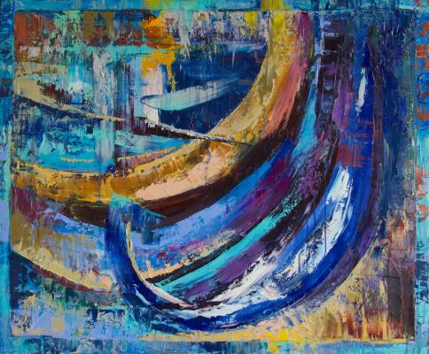 Екатерина Антропова. Blue boats