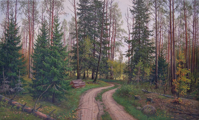 Alexander Vasilyevich Zoryukov. At the edge of the forest