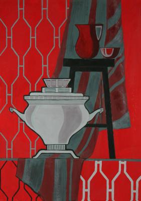 Елизавета Александровна Рыбина. Red still life