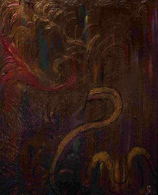 "Alla Struchayeva. Painting ""Flight"""