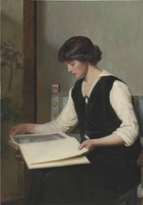 Lila Cabot Perry. Reading