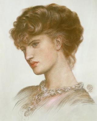 Dante Gabriel Rossetti. Portrait of a woman