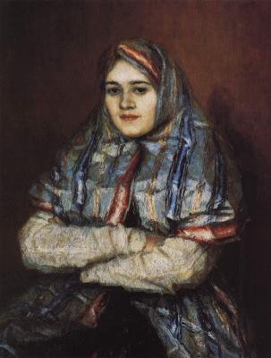 Vasily Ivanovich Surikov. Citizen. Portrait of Alexandra Ivanovna Emelianova, nee Schrader