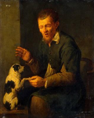 Давид Рейкарт. Крестьянин с собакой