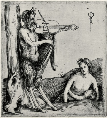 Jacopo de Barbary. Satyr, who plays the violin