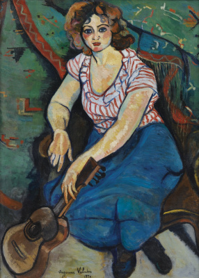 Suzanne Valadon. Woman with guitar