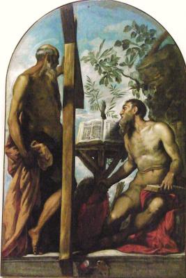 Jacopo (Robusti) Tintoretto. Saint Jerome and Saint Andrew