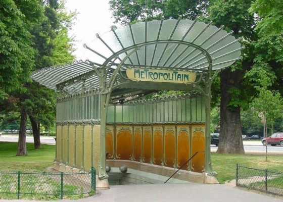 Hector Guimard. Entrance to the metro Gates of Dauphin, Paris