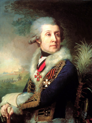 Vladimir Lukich Borovikovsky. Portrait of major-General F. A. Borovsky