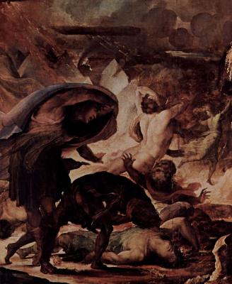 Domenico Beccafumi. The punishment of hell fire. The last judgement, detail