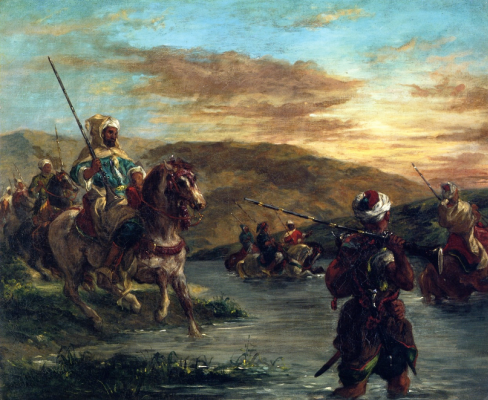 Эжен Делакруа. Прохождение марокканскими всадниками брода