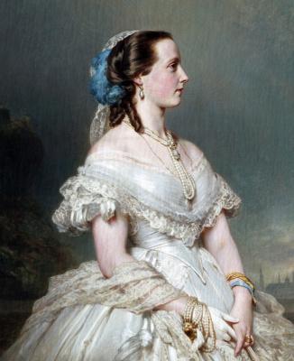 Franz Xaver Winterhalter. Maria Of Hendrik Belgian. Fragment