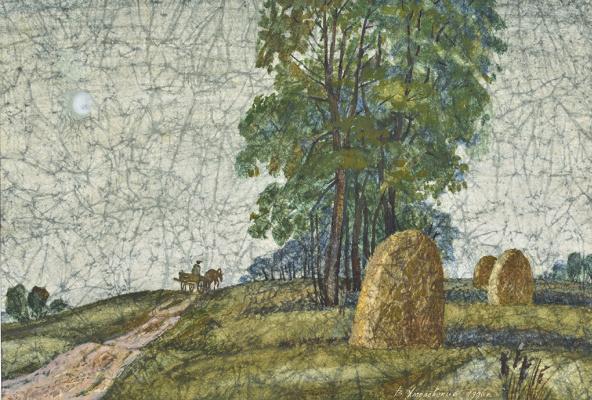 Vladimir Iosifovich Khmelevsky. Landscape with a cart