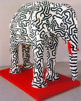 Whale Haring. Elephant