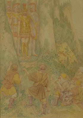 Ричард Дадд. Leonidas and the woodcutters
