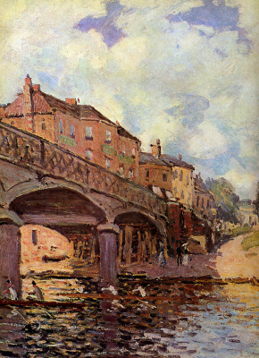 Alfred Sisley. The bridge at Hampton