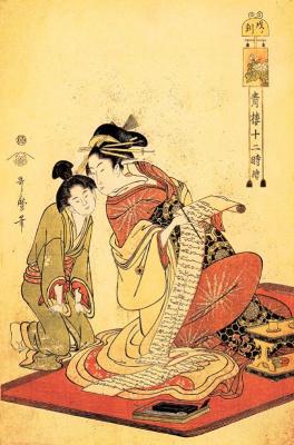 Kitagawa Utamaro. The hour of the dragon