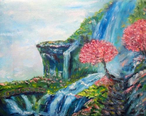 Nataly Yakubovskaya. The cherry blossoms