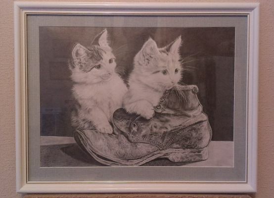 Bogdan Nikolaevich Doroshenko. Kittens and shoe.
