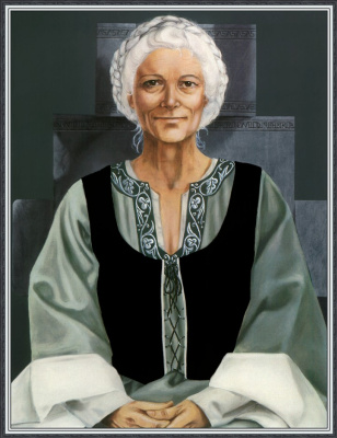 Робин Вуд. Сидящая пожилая женщина
