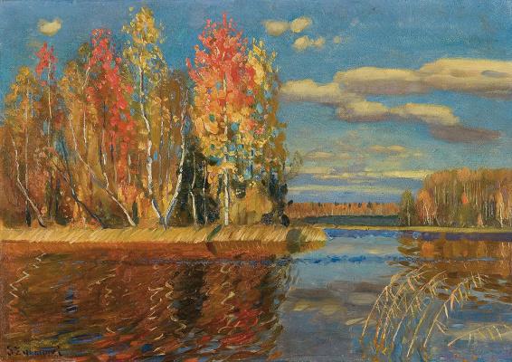 Stanislav Yulianovich Zhukovsky. Autumn water