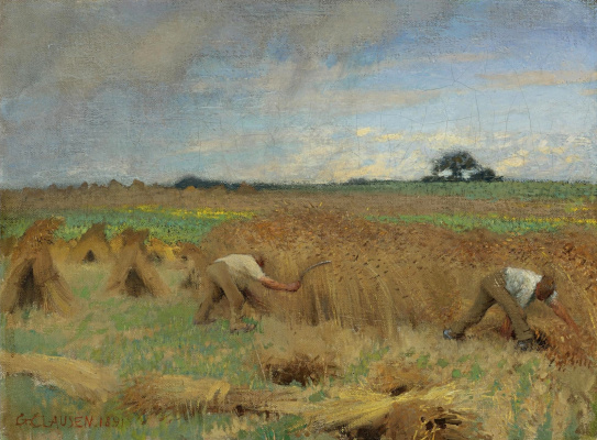George Clausen. The reapers
