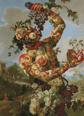 Giovanni Paolo Castelli (Lo Spadino). An anthropomorphic allegory of Autumn