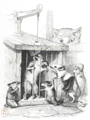 "Jean Inias Isidore (Gerard) Granville. Children, there are such dangers. ""Scenes of public and private life of animals"""