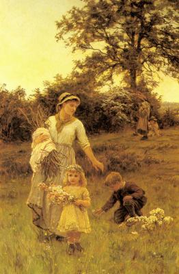 Фредерик Морган. Дети собирают цветы
