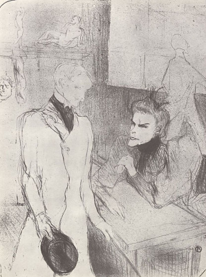 "Henri de Toulouse-Lautrec. Brand and Le Barges in the third act of ""Make-believers"""