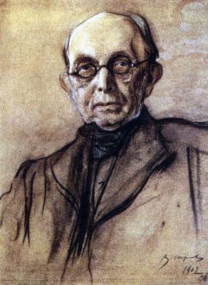 Valentin Aleksandrovich Serov. Portrait Of K. P. Pobedonostsev