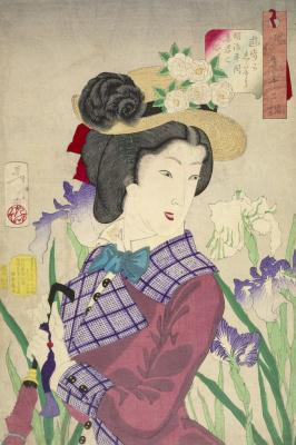 "Tsukioka Yoshitoshi. The noble housewife of the Meiji period. Series ""32 the feminine face of everyday life"""