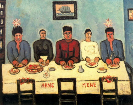 Marsden Hartley. At the table