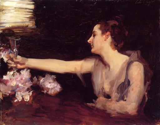 John Singer Sargent. Madame Gotra, raising a toast