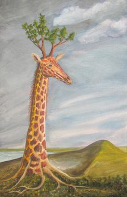 Фёдор Михайлович Буравлёв. Tree giraffe