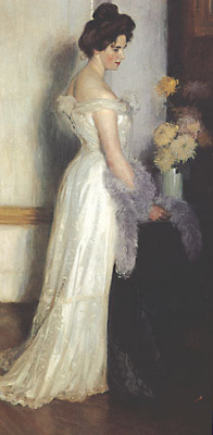 Janis Mikhailovich Rosenthal (Rosenthals). Woman in white