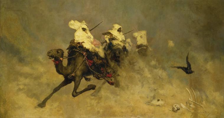 Wilhelm Kotarbinsky. Camel cavalry