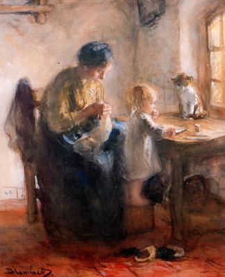 Бернардус Бломмерс. Мать с ребенком
