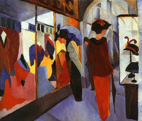 August Macke. Ladies choose hats