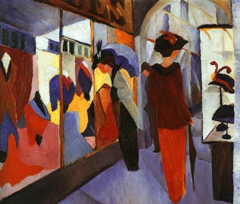 August Macke. Ladies choose hats