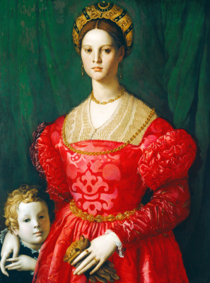 Agnolo Bronzino. Portrait of a young woman with her son