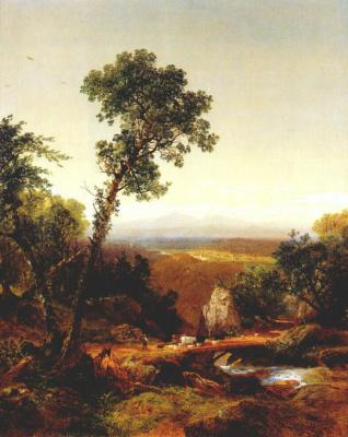 Джон Фредерик Кенсетт. Белый горный пейзаж