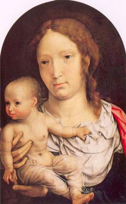Ян Госсарт. Мадонна с младенцем на руках