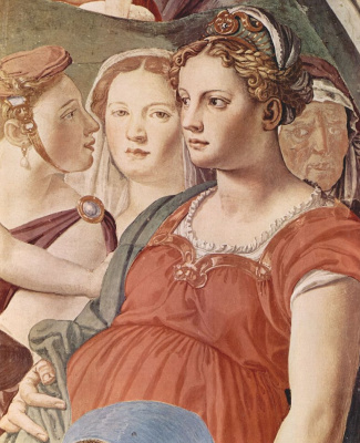 Agnolo Bronzino. Israelis crossing the Red Sea. Fragment